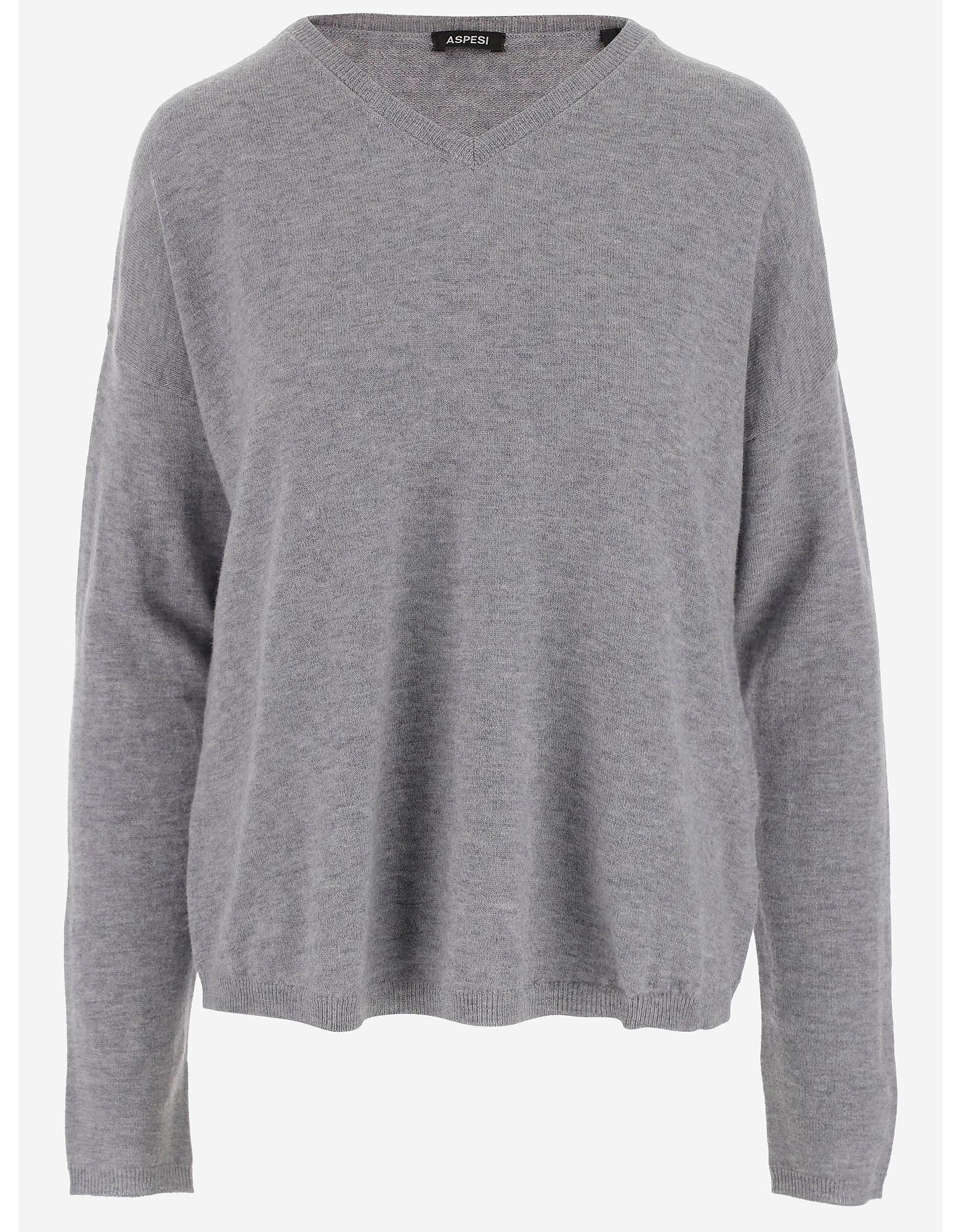 Aspesi Designer Knitwear, Women's Crewneck Sweater