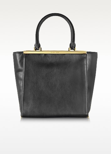 Lana Black Leather Large Tote - Michael Kors