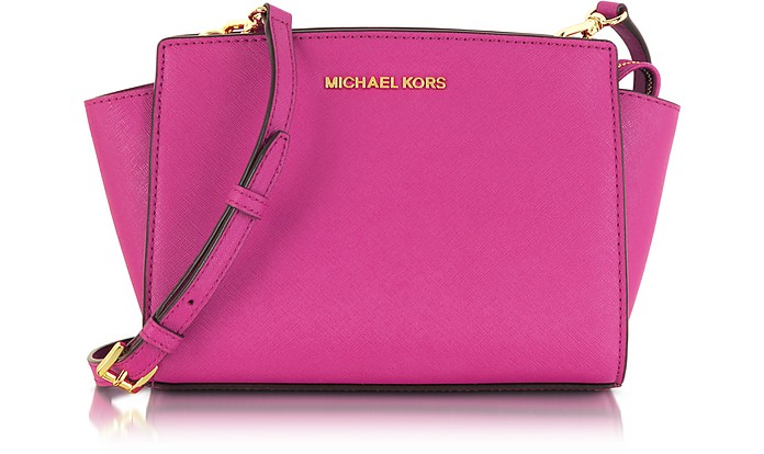 Selma Medium Saffiano Leather Messenger Bag - Michael Kors