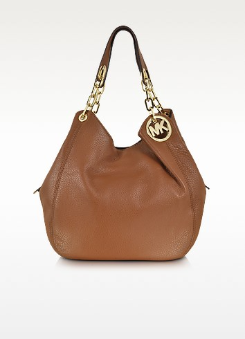 Fulton Luggage Leather Shoulder Tote - Michael Kors