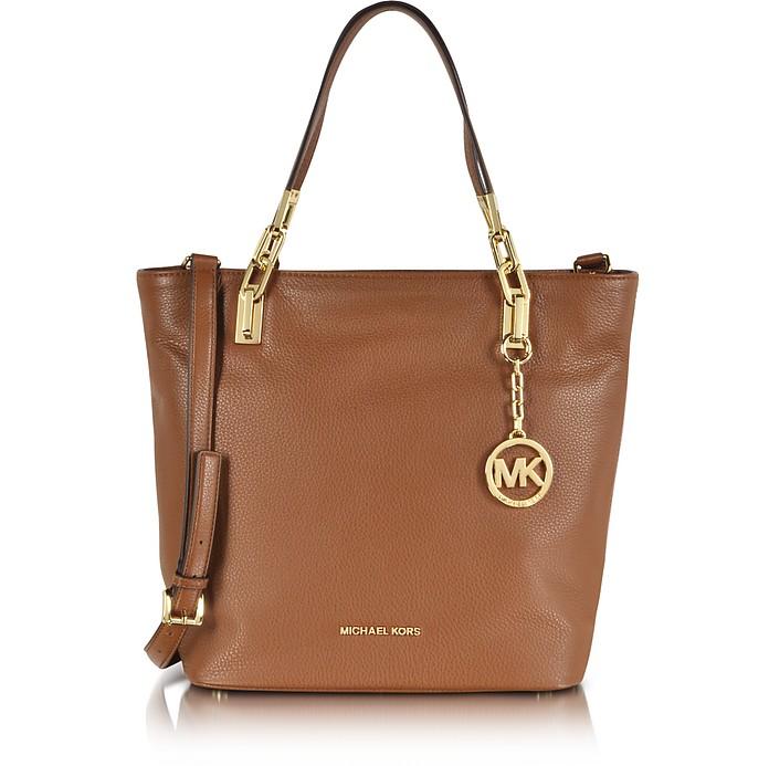 Brooke Luggage Leather Medium Tote - Michael Kors