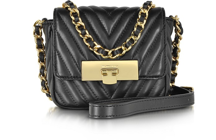 Susannah Lock Black Quilted Leather Small Messenger - Michael Kors