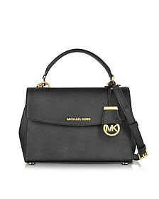 Ava Black Saffiano Leather Small Satchel Bag - Michael Kors