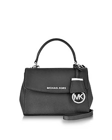 Ava Black Saffiano Leather XS Crossbody Bag - Michael Kors