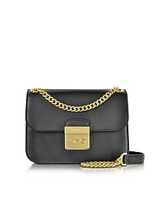 Sloan Editor Medium Black Leather Chain Shoulder Bag - Michael Kors