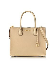 Mercer Large Oyster Pebble Leather Convertible Tote Bag - Michael Kors