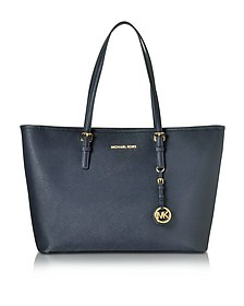 Admiral Jet Set Travel Saffiano Leather Medium T Z Tote - Michael Kors