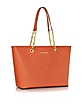 Saffiano Leather Jet Set Travel Chain T/Zip Multifunction Tote - Michael Kors