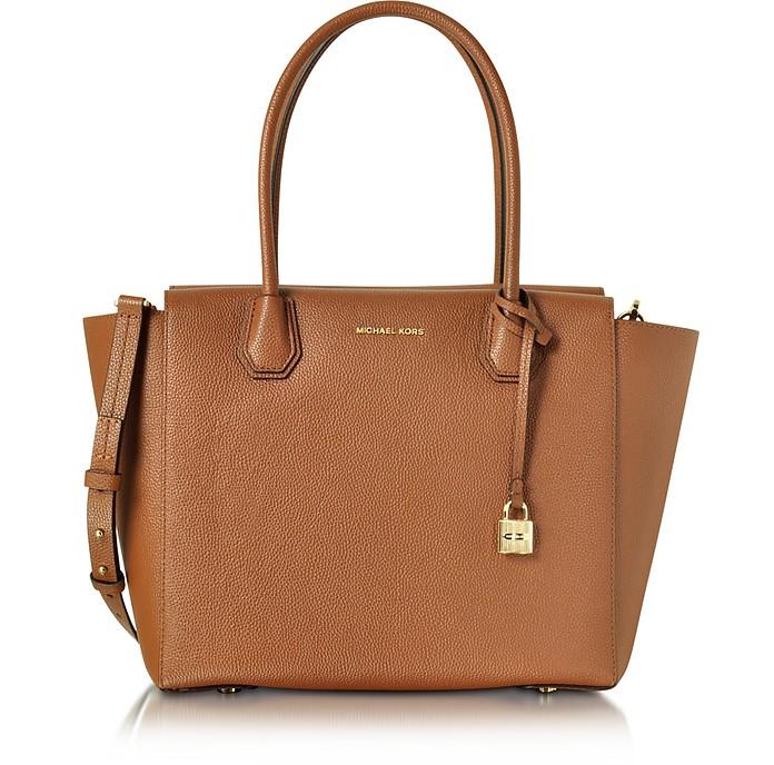 Mercer Large Luggage Bonded Pebble Leather Satchel - Michael Kors