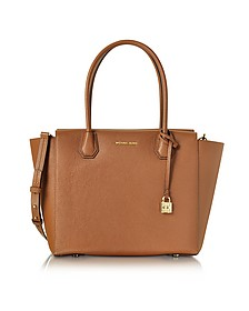 Mercer - Grand Sac à Main en Cuir Grainé Marron - Michael Kors