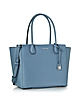 Mercer Large Denim Bonded Pebble Leather Satchel - Michael Kors