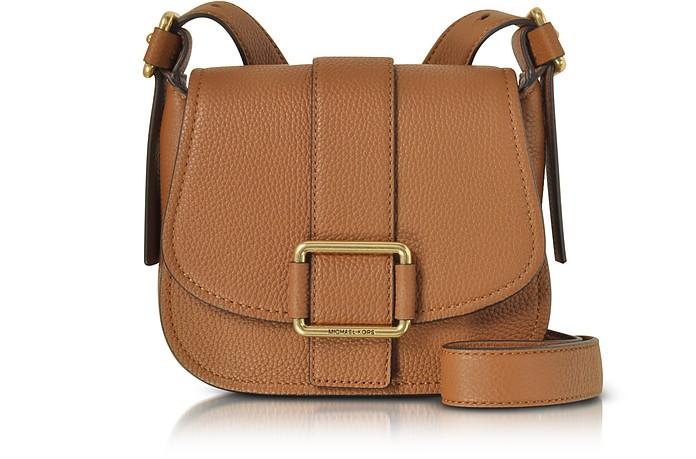 Maxine Medium Leather Saddle Bag - Michael Kors