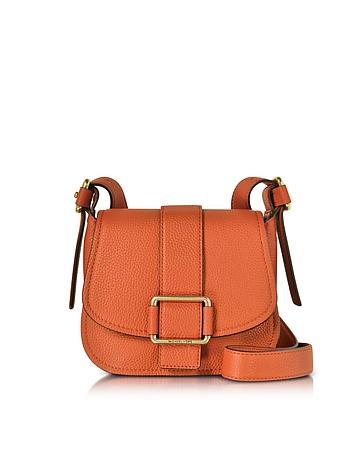 Michael Kors - Maxine Medium Leather Saddle Bag
