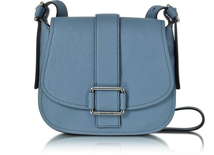 Maxine Large Denim Leather Saddle Bag - Michael Kors