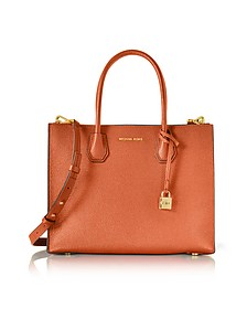 Mercer - Grand Cabas en Cuir Grainé Orange - Michael Kors