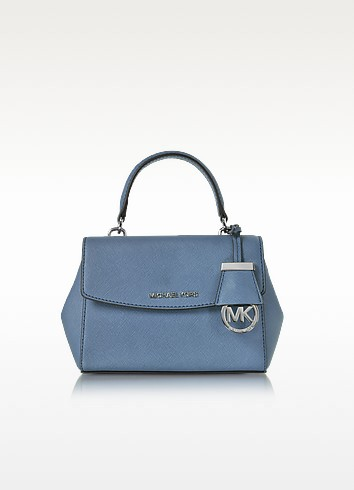 Ava XS Denim Saffiano Leather Crossbody Bag - Michael Kors