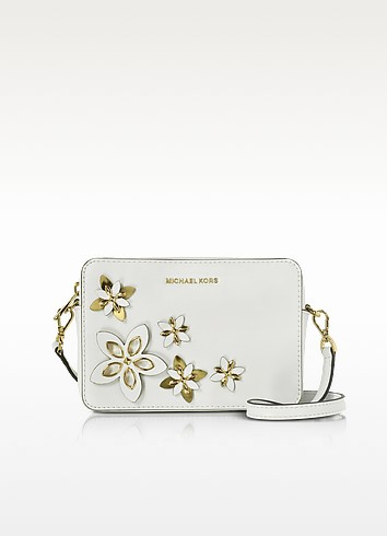 Flowers Optic White Pouches Medium Camera Bag - Michael Kors
