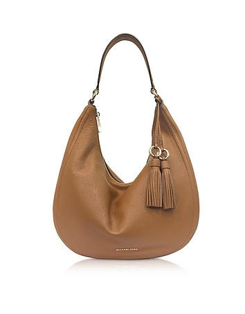 Lydia Acorn  Pebbled Leather Hobo Bag