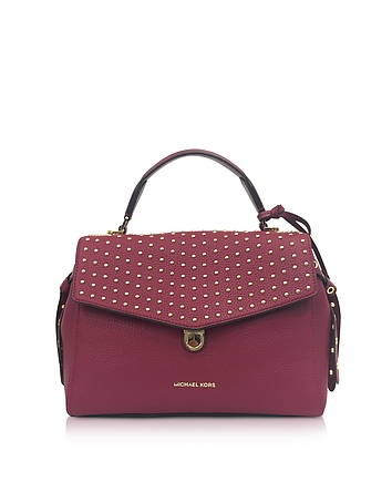 Bristol Mulberry Studded Leather Top Handle Satchel Bag