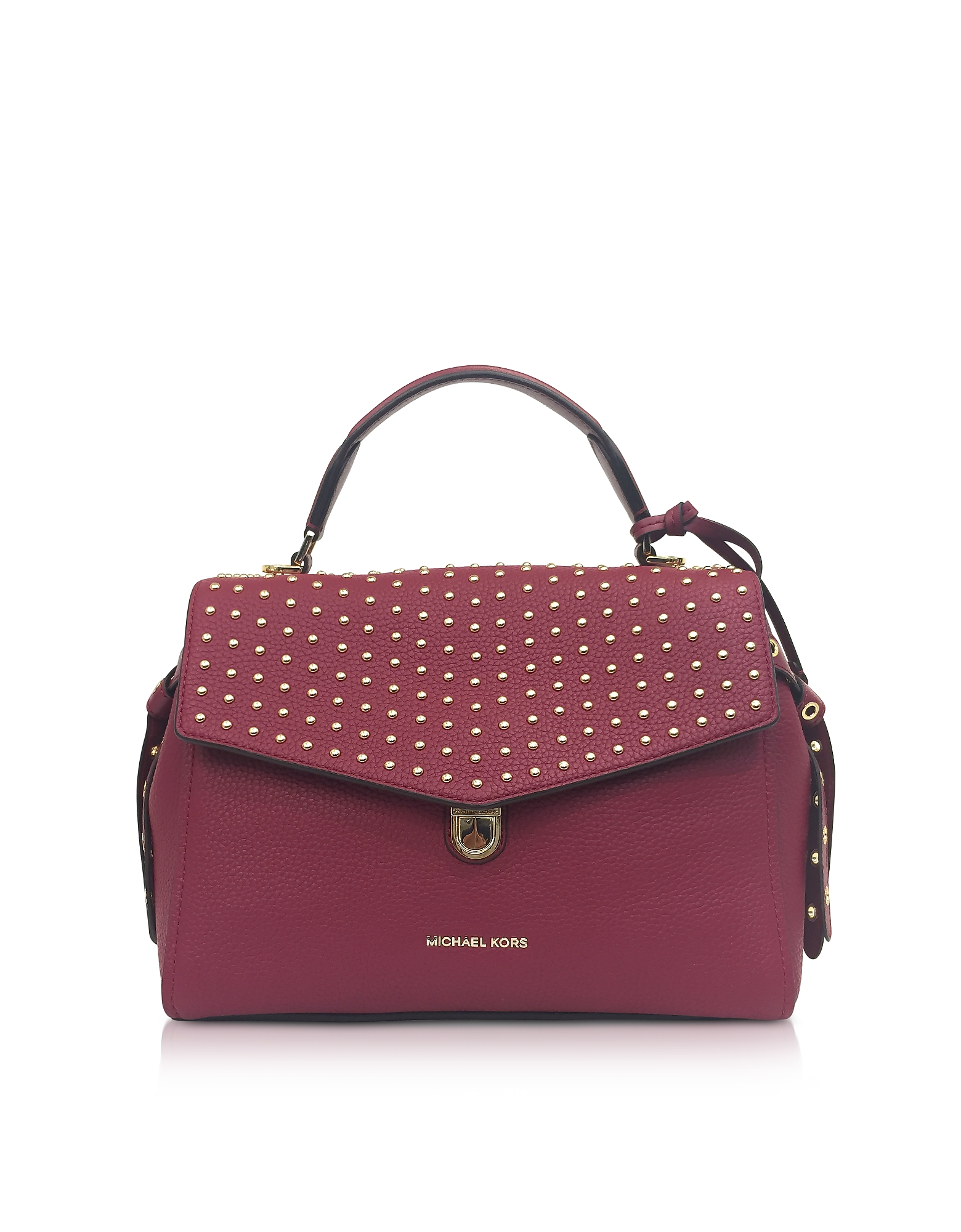 Michael Kors Handbags, Bristol Mulberry Studded Leather Top Handle Satchel Bag