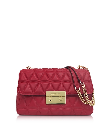Bright Red Sloan Large Quilted-Leather Shoulder Bag
