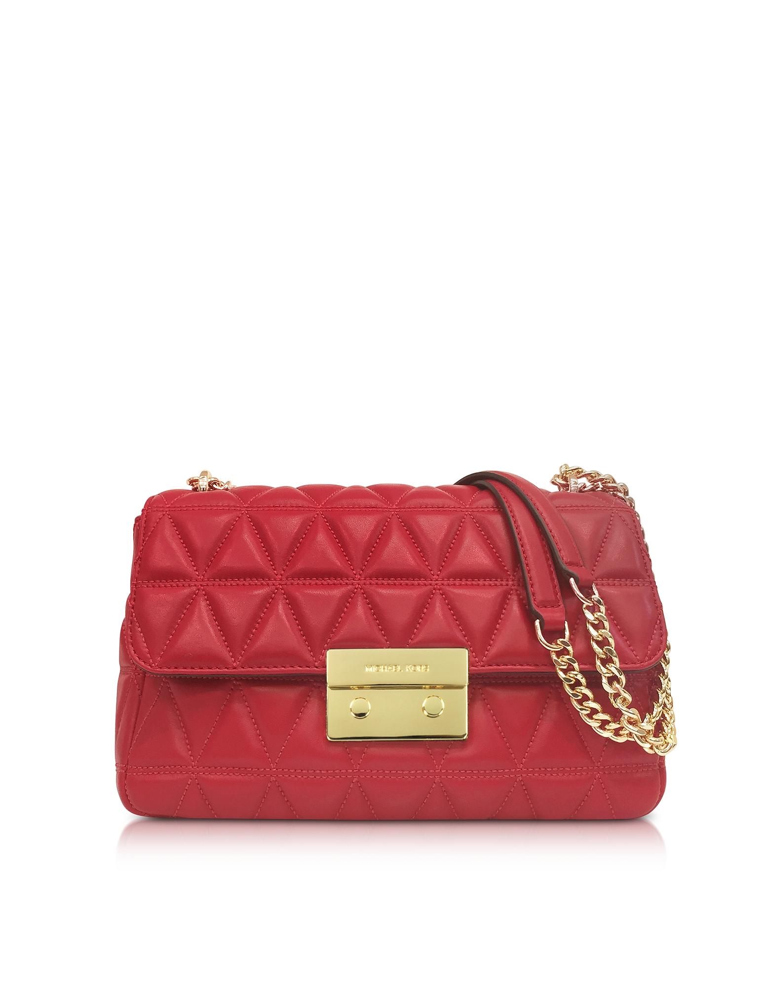 Michael Kors Handbags, Bright Red Sloan Large Quilted-Leather Shoulder Bag