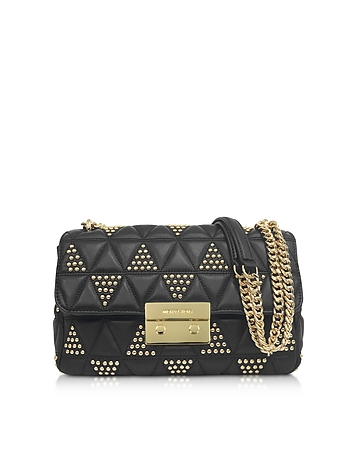 Sloan Large Studded Leather Shoulder Bag