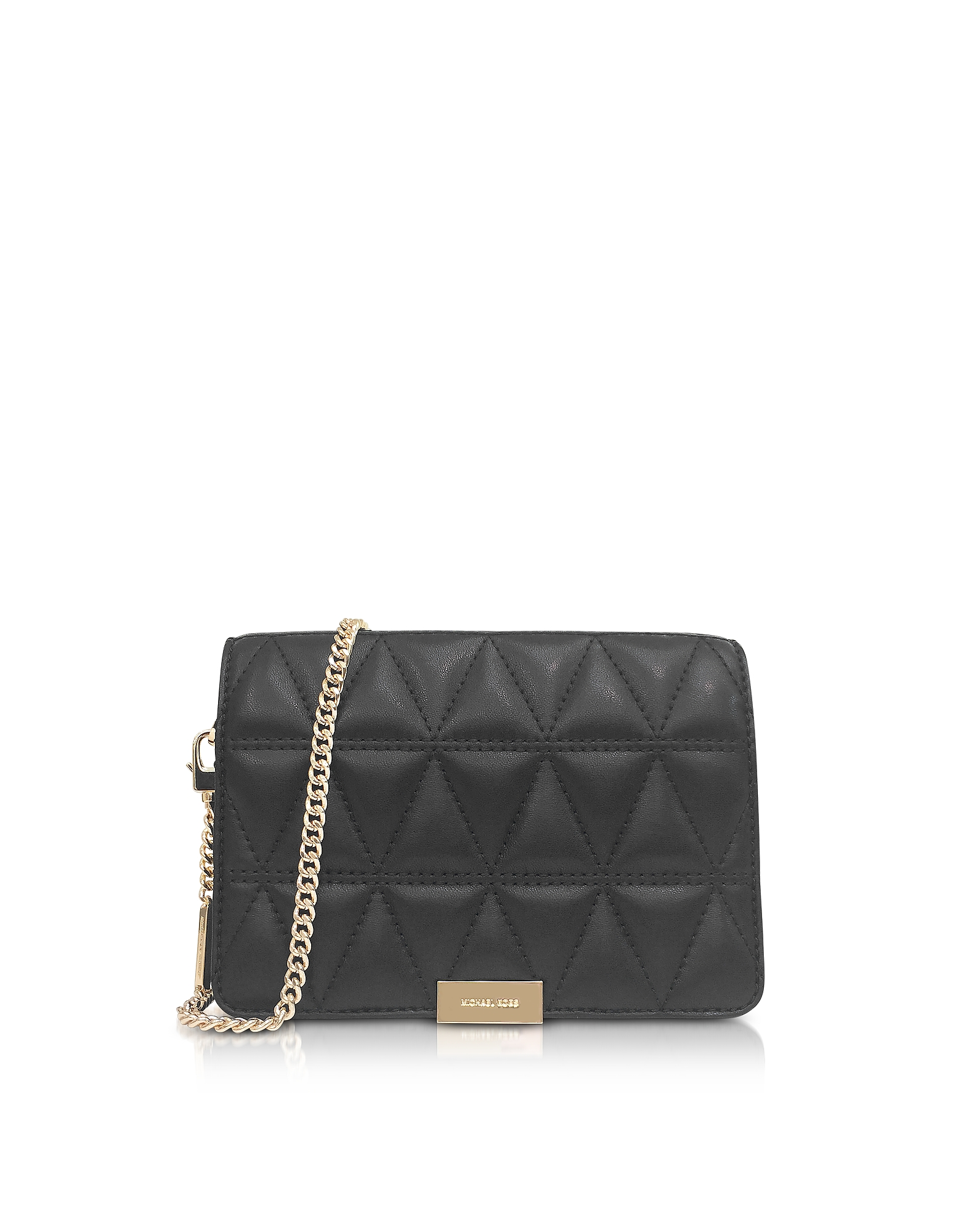 Michael Kors Handbags, Jade Black Quilted-Leather Clutch
