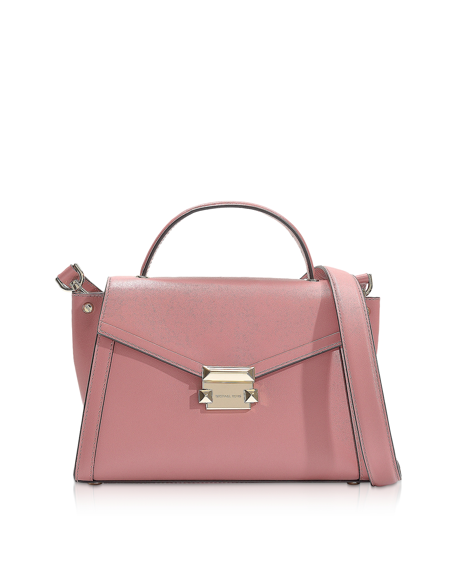 Rose Leather Whitney Medium Top-Handle Satchel Bag