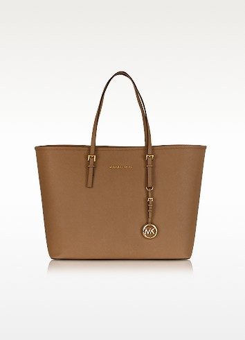 Jet Set Travel Shopper in Pelle Saffiano con Zip - Michael Kors