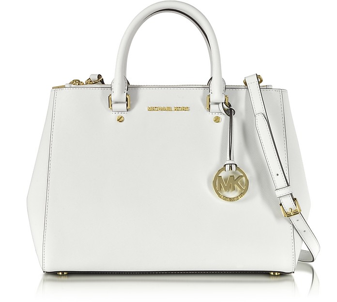 Sutton Saffiano Leather Large Satchel - Michael Kors