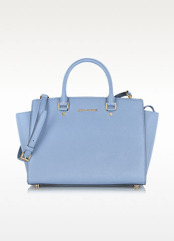 Large Selma Top-Zip Saffiano Leather Satchel - Michael Kors / マイケル コース