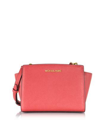 Selma Medium Saffiano Leather Messenger Bag
