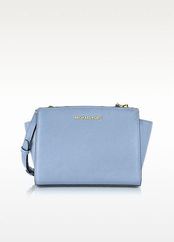 Selma Medium Saffiano Leather Messenger Bag  - Michael Kors