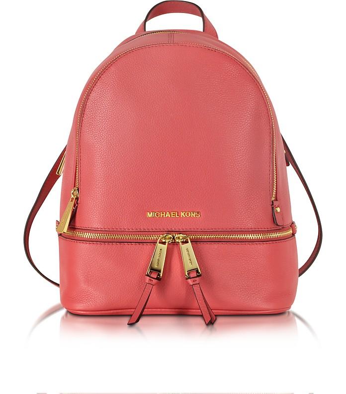 Rhea Zip Small Watermelon Leather Backpack - Michael Kors