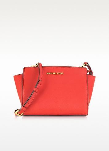 Selma Medium Coral Reef Saffiano Leather Messenger Bag - Michael Kors