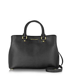 Savannah Large Saffiano Leather Satchel Bag - Michael Kors