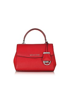 Ava Bright Red Saffiano Leather XS Crossbody Bag - Michael Kors