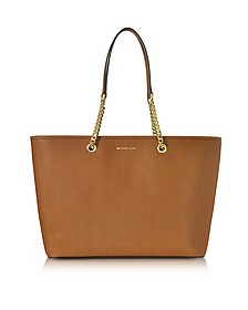 Jet Set Travel - Moyen Cabas en Cuir Saffiano Marron - Michael Kors
