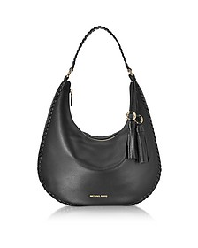 Lauryn Large Black Pebble Leather Shoulder Bag - Michael Kors