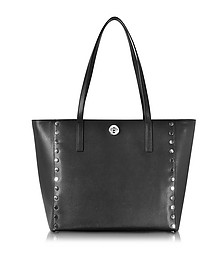 Black Studded Leather Rivington Large Tote - Michael Kors