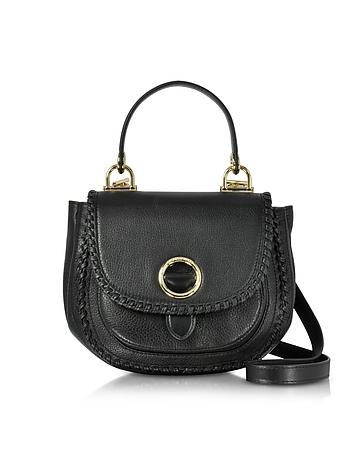 Michael Kors - Isadore Medium Top Handle Black Pebble Leather Messenger Bag