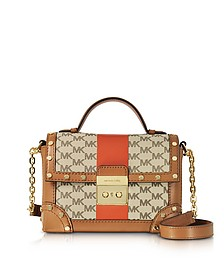 Small Cori Center Stripe and Heritage Signature Trunk Bag w/Studs - Michael Kors