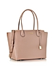 Mercer Large Bonded Pebble Leather Satchel - Michael Kors