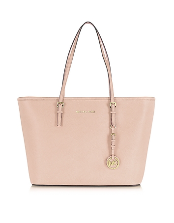 Michael Kors - Jet Set Travel Soft Pink Saffiano Leather Top Zip Tote