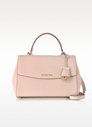 Ava Medium Soft Pink Saffiano Top Handle Satchel - Michael Kors