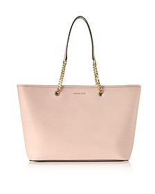 Jet Set Travel Chain Medium Soft Pink T/Z Saffiano Leather Multifunction Tote - Michael Kors