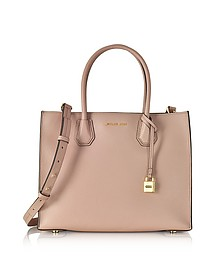 Mercer Large Fawn Pebble Leather Convertible Tote Bag - Michael Kors