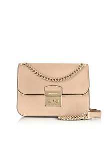 Sloan Editor Medium Oyster Leather Chain Shoulder Bag - Michael Kors