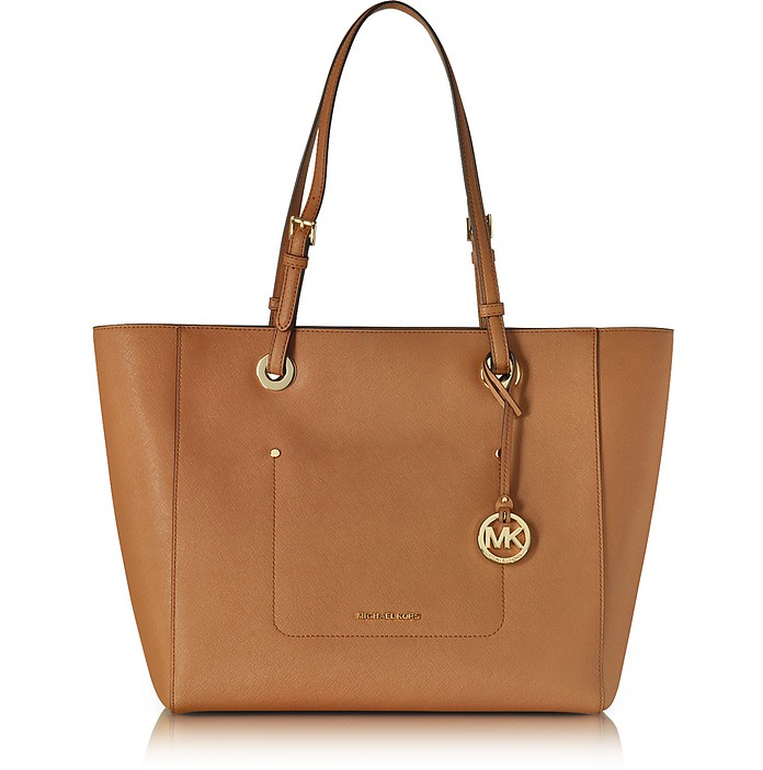 Walsh Large Acorn Saffiano Leather EW Top-Zip Tote - Michael Kors